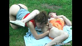 Horny lesbian couple having...