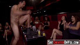 21  Strippers getting sucked and fucked at CFNM orgy 37
