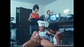 Vintage Double Blowjob For The Cook