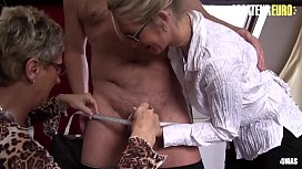 AMATEUR EURO - Two German Mature Ladies Shares Hard Cock This Afternoon (Ziska &amp_ Erna)