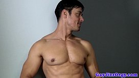 Gay orgy closeup with...