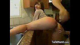 Couple Fuck In The Kitchen