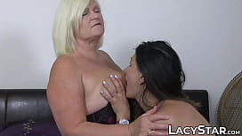 Busty blonde granny has...