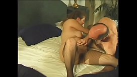 Crummy  brunette Kathy made goo-goo eyes at get thin on top gentleman who is not against to let his Little John to romp for a while