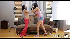 Lovestick riding by a dirty-minded pungent brunette darling Holly Michaels