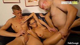 AMATEUR EURO - Naughty Mature Wife Jessy W. Wants To Have Sex With Her Hubby And Their Neighbour