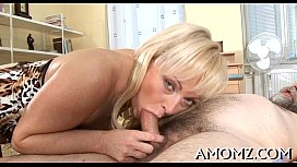 Mom entreats for cock in her twat