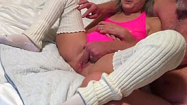 Horny Wife Enjoys Some Fingering From Hubby