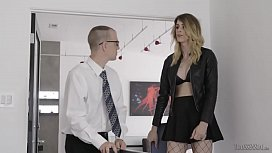 Nerdy assistant gets fucked...