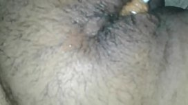 My wife'_s Hairy pussy licking and fucking with brown lolipop