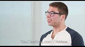 GayCastings Geek With Glasses Gets Facial