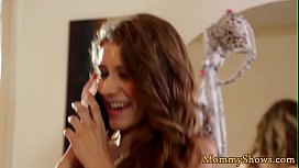 Classy les stepmom pussylicked by sweet teen