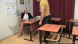 Russian mature teacher 9...