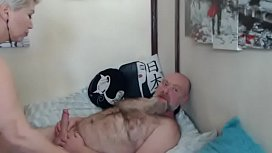 A real husband fucks his wife in all holes in private show... )))
