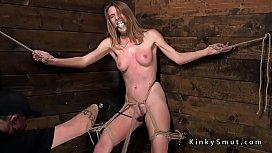 Tied up in corner slave drooling xnxx image