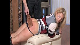 Husband spanks wife for...