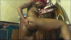 Hot black beauty with gorgeous booty pozing and teasing at cam. More at 747cams.com