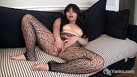 Asian Hermine Toying Her...