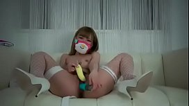 Japanese Cutie gal With A Hairy Pussy Squirting