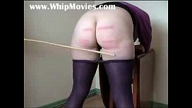 Severe caning for chubby...