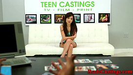 Casting teen hardfucked and...
