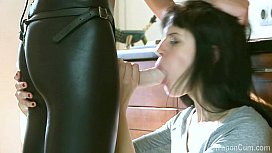 Strapon creampie after the...