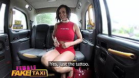 Female Fake Taxi Tattooed...
