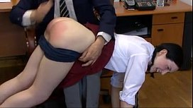 Schoolgirl Spanked by Headmaster...