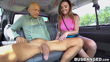 Tiny Teen Destroyed By Big Dicked Mature Guy In The Van thumbnail