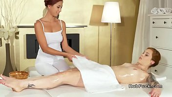 Asian Masseuse And Redhead Lesbian Client thumbnail