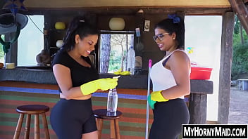 Phat Ass Latina Maids Getting Their Cunts Smashed In Nature thumbnail
