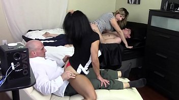 Step Mom Grinds Son's Dick While Step Daughter Grinds Step Daddy's Dick Family Taboo thumbnail