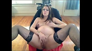 Smoking preggo porn Smoking pregnant woman talks dirty and masturbates