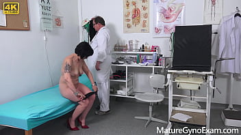 Czech grandma Charlie made to cum by freaky doctor on her gyno exam