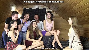 Students ended the game hard orgy