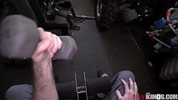 Natural Teen Gets Fucked in Garage by Big Dick Step-Bro