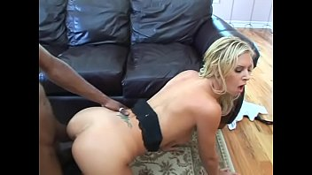 Physically fit French stud stretches wet cunt of charming blonde doll with big knockers Brooke Banner with his massive black dong
