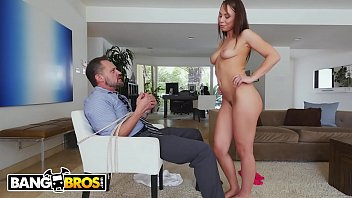 BANGBROS - Young Step Daughter Aidra Fox Takes Control Of Her Step Father