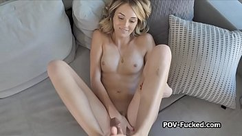 Watch inside deep throat She deep throats my dick and does footjob on pov video