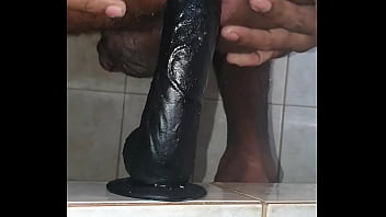 Shower play time erotic ebony sex