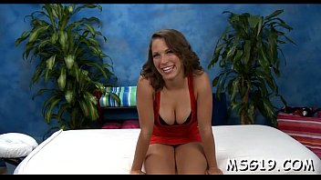 Hot brunette impaled on rod