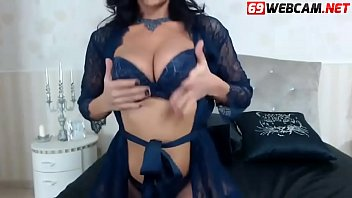 Hot Brunette Milf in Lingerie waiting for a cock
