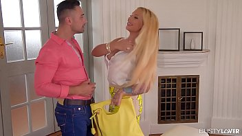 Busty lovers get to see blonde babe Kyra Hot's big round tits being fucked 20 min
