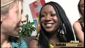 Ebony gets fucked in all holes by a group of white dudes 1 Thumb