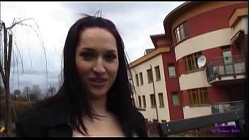 Beautiful brunette girl accepts some money to fuck on the playground
