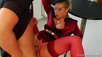 Hot clips best fully clothed sex Fully clothed bombshell, bibi fox, roxyn elegantly dressed babes