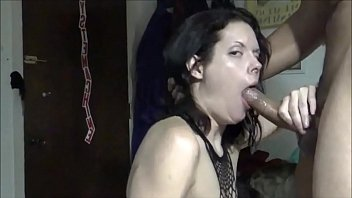 amateur milf sucks bbc & cum swallows