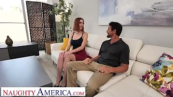 Naughty America - Lilian Stone Fucks Client's Husband On Their Bed