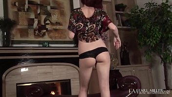 Hot Redhead Elle Alexandra Fingers Herself By The Fireplace!