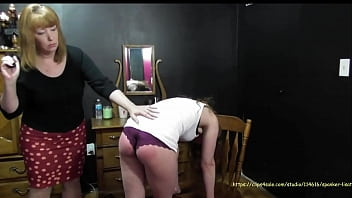 Song mama spank Miss lisa- bianca parties while mom is away